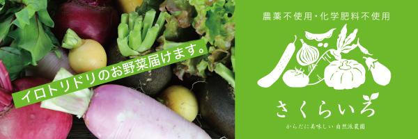 農薬不使用・化学肥料不使用 安心こだわり栽培野菜 ~ファーム さくらいろ~